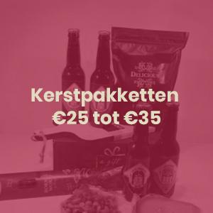 Kerstpakketten €25 tot €35