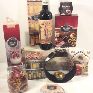 kerstpakket kerstborrel wijn en noten